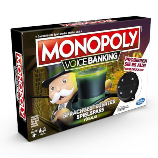 Schachtel Vorderseite links- Monopoly - Voice Banking