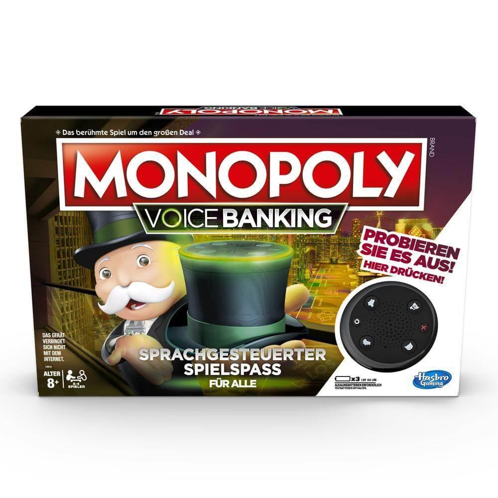 Schachtel Vorderseite- Monopoly - Voice Banking