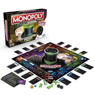 Gesamtes Spielmaterial - Spielschachtel Vorderseite- Monopoly - Voice Banking