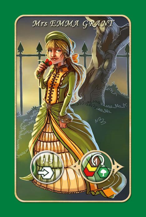 Spielkarte Mrs Emma Grant- Mr. Jack - New York