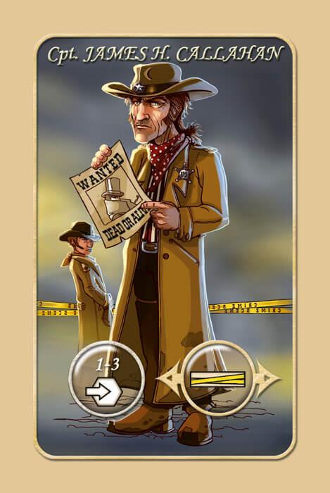 Spielkarte Cpt. James H. Callahan- Mr. Jack - New York