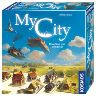 Schachtel Vorderseite - nominiert zum Spiel des Jahres 2020- My City