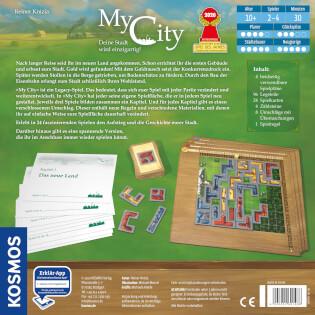 Schachtel Rückseite - nominiert zum Spiel des Jahres 2020- My City