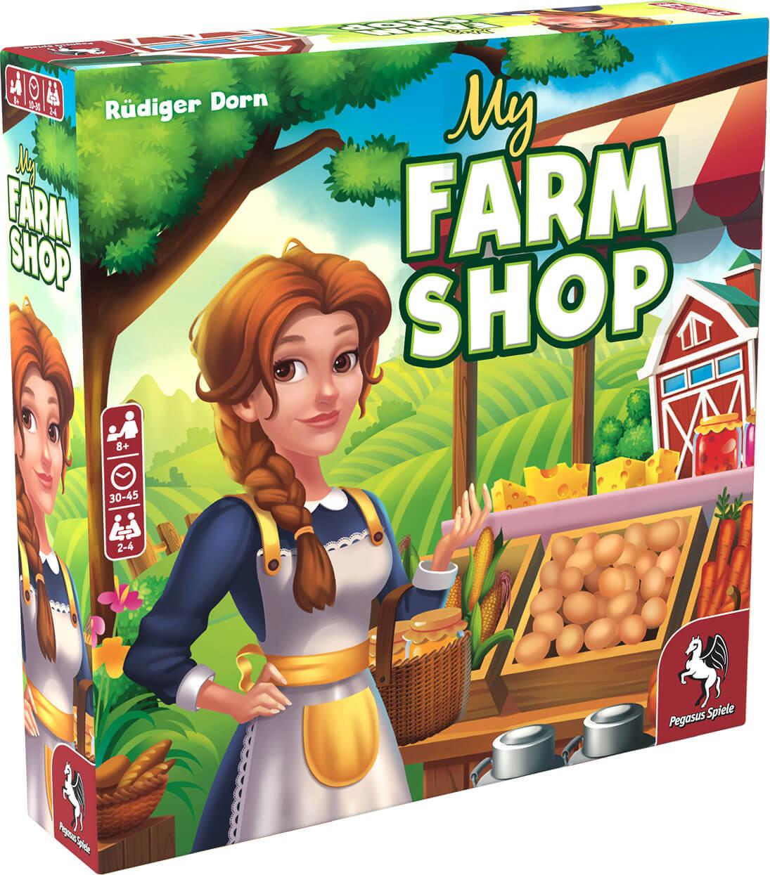 Schachtel Vorderseite, linke Seite- My Farm Shop