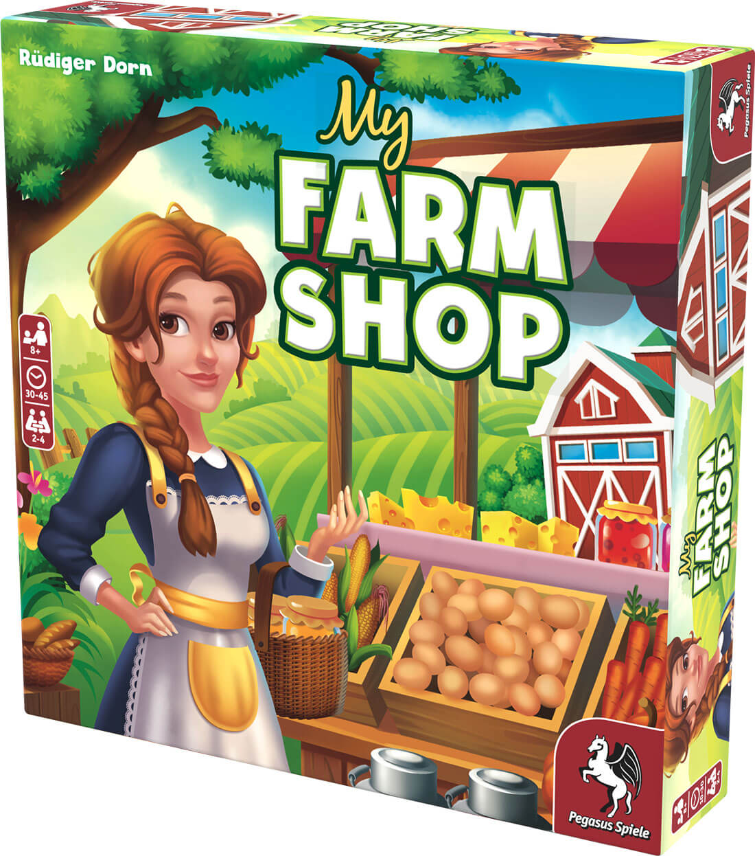 Schachtel Vorderseite, rechte Seite- My Farm Shop