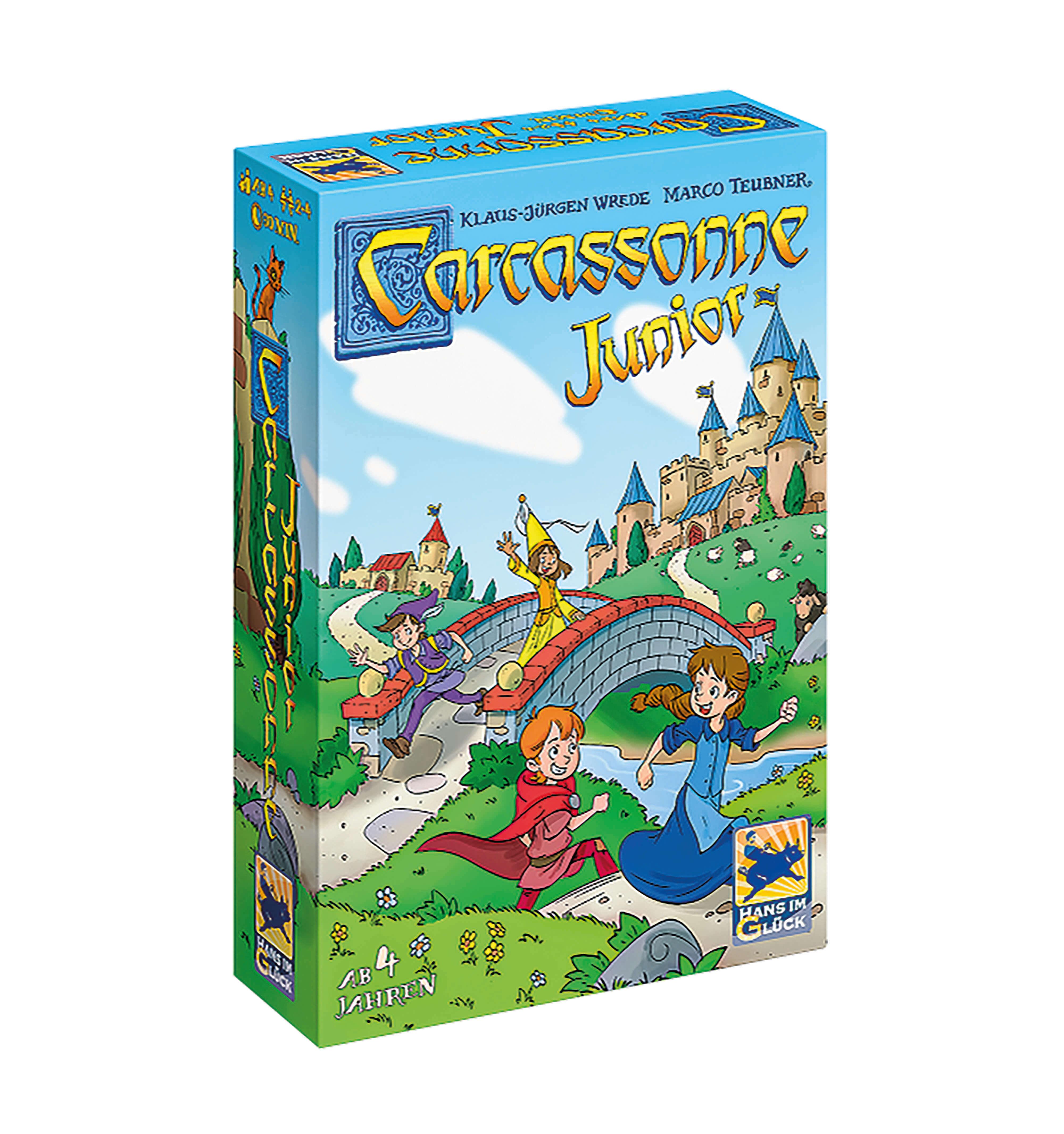 Schachtel Vorderseite- Carcassonne Junior