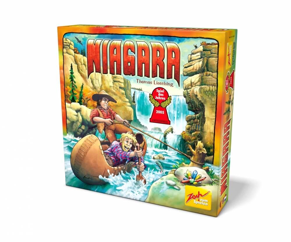 Schachtel Vorderseite - Spiel des Jahres 2005- Niagara