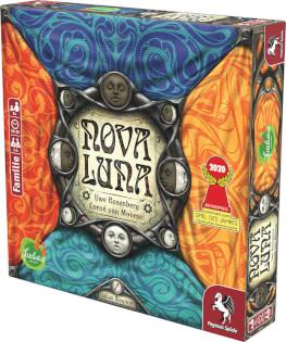 Schachtel Vorderseite links - Das familienfreundliche Legespiel- Nova Luna