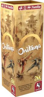 Schachtel Vorderseite, linke Seite- Onitama