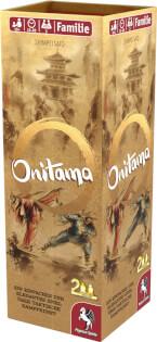 Schachtel Vorderseite, rechte Seite- Onitama