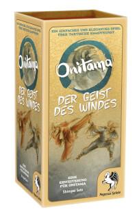 Schachtel Vorderseite, linke Seite- Onitama: Der Geist des Windes
