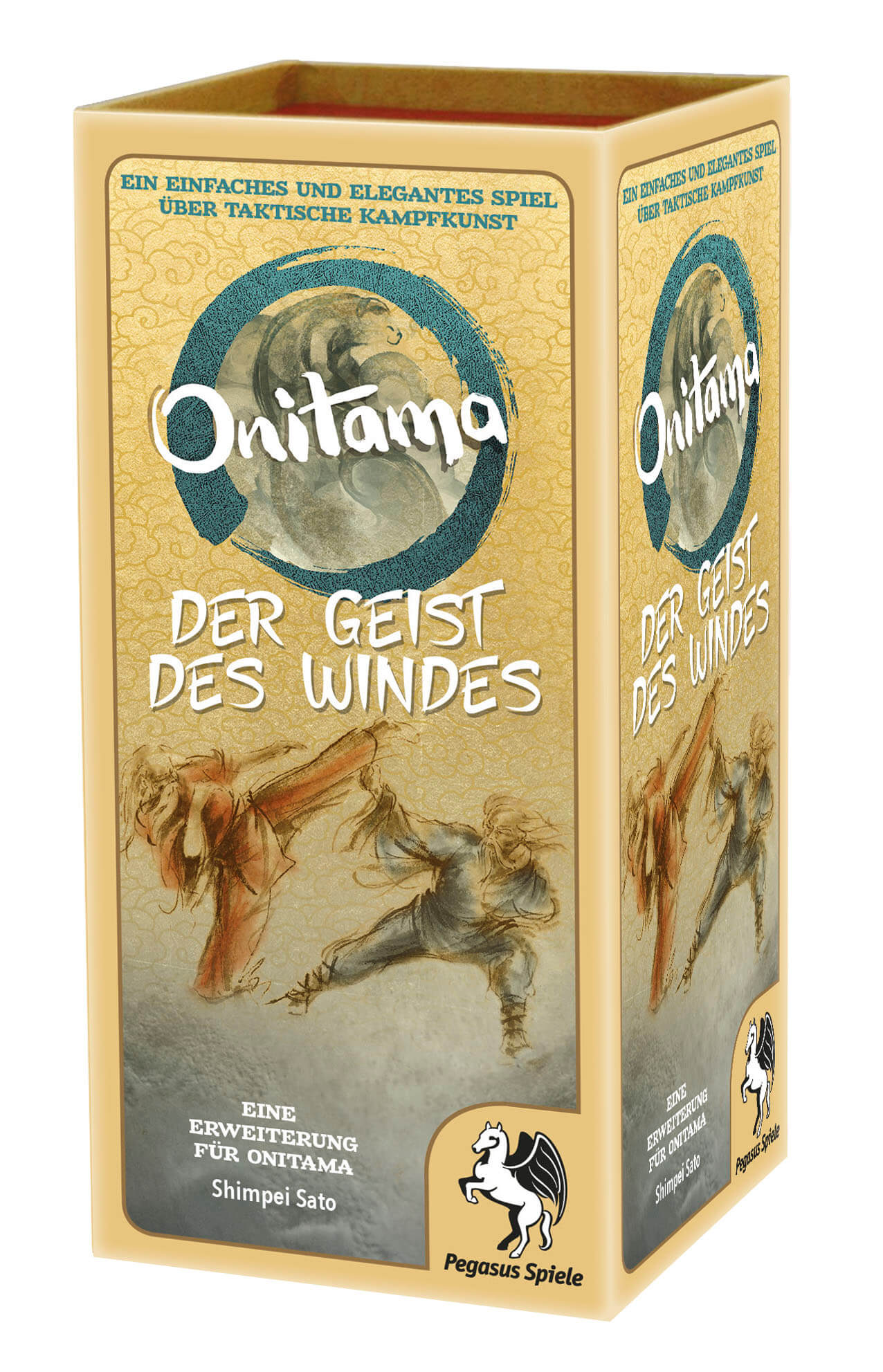 Schachtel Vorderseite, rechte Seite- Onitama: Der Geist des Windes