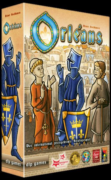 Schachtel Vorderseite - nominiert zum Kennerspiel des Jahres 2015- Orléans