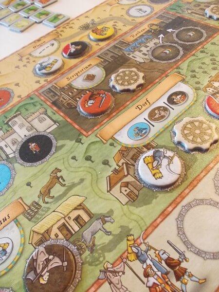 Spielplan mit Ressourcen - nominiert zum Kennerspiel des Jahres 2015- Orléans
