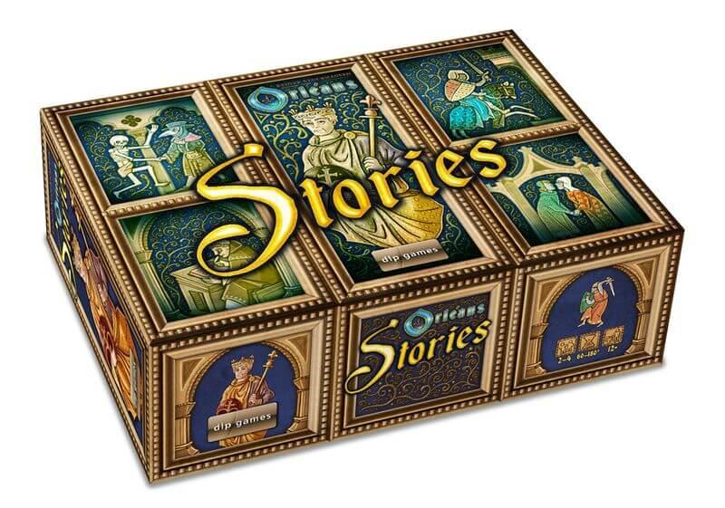 Schachtel Vorderseite, linke Seite- Orléans Stories