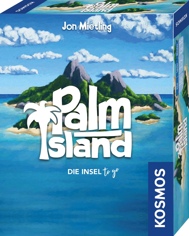 Schachtel Vorderseite, rechte Seite- Palm Island