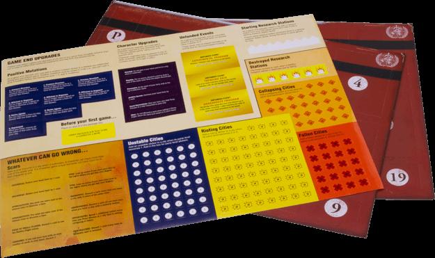 5 Dossiers und 1 Stickerbogen - nominiert zum Kennerspiel des Jahres 2016- Pandemic Legacy - Season 1