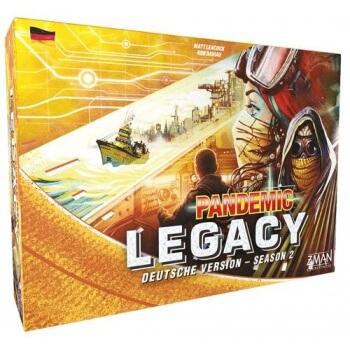 Schachtel Vorderseite - Fortsetzung des Legacy-Hits- Pandemic Legacy - Season 2 (gelb)