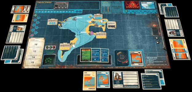 Schöner Spielplan - Fortsetzung des Legacy-Hits- Pandemic Legacy - Season 2 (gelb)