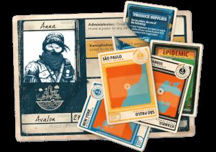 10 Charakterkarten - Fortsetzung des Legacy-Hits- Pandemic Legacy - Season 2 (gelb)