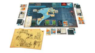 Spielmaterial - Spielbrett und Spielkarten- Pandemic Legacy - Season 2 (schwarz)