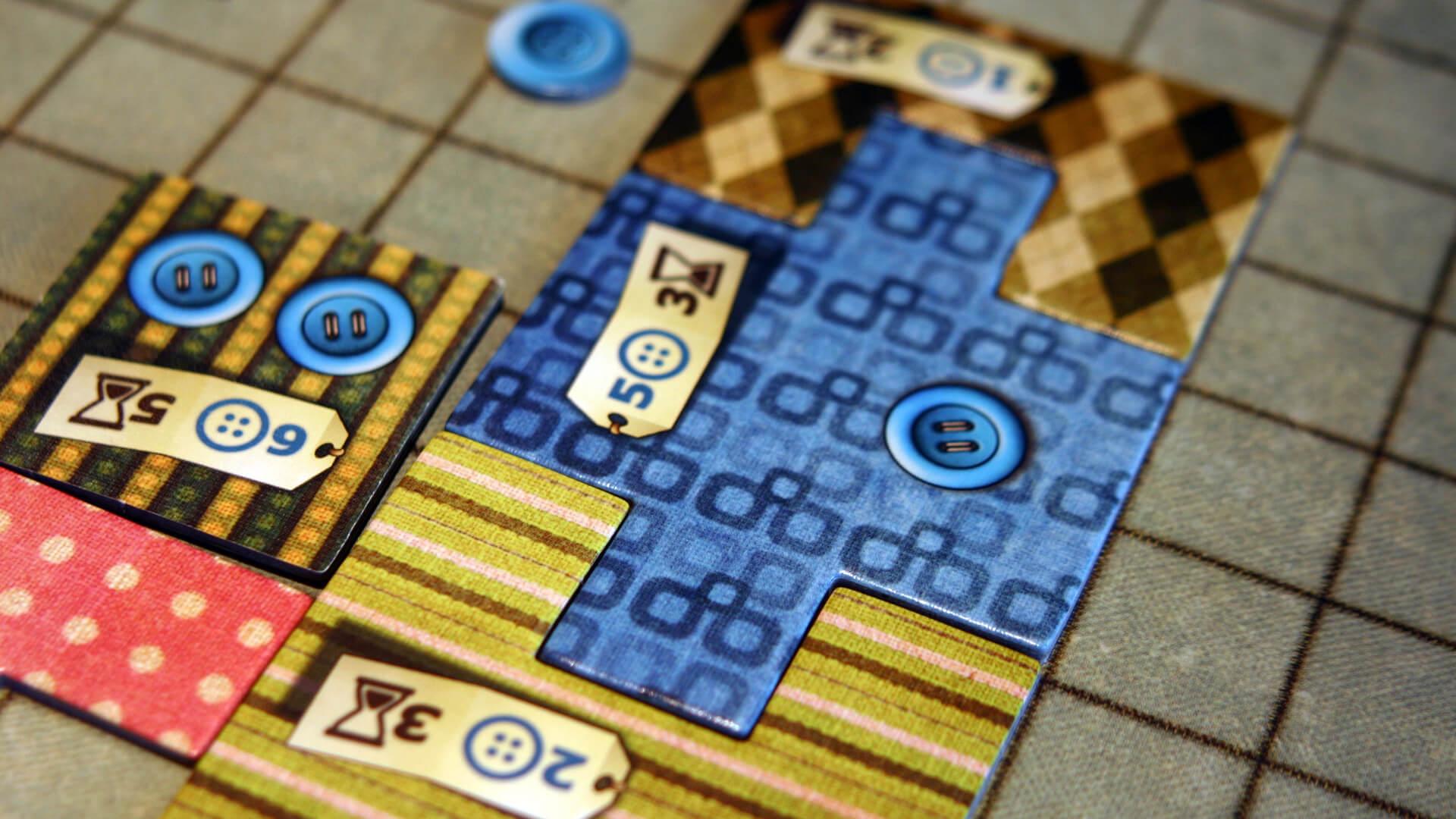 Spielbrett eines Spielers- Patchwork