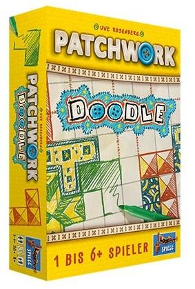 Schachtel Vorderseite links- Patchwork Doodle