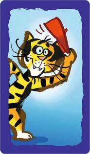 Spielkarte - Tiger- Papo Quet