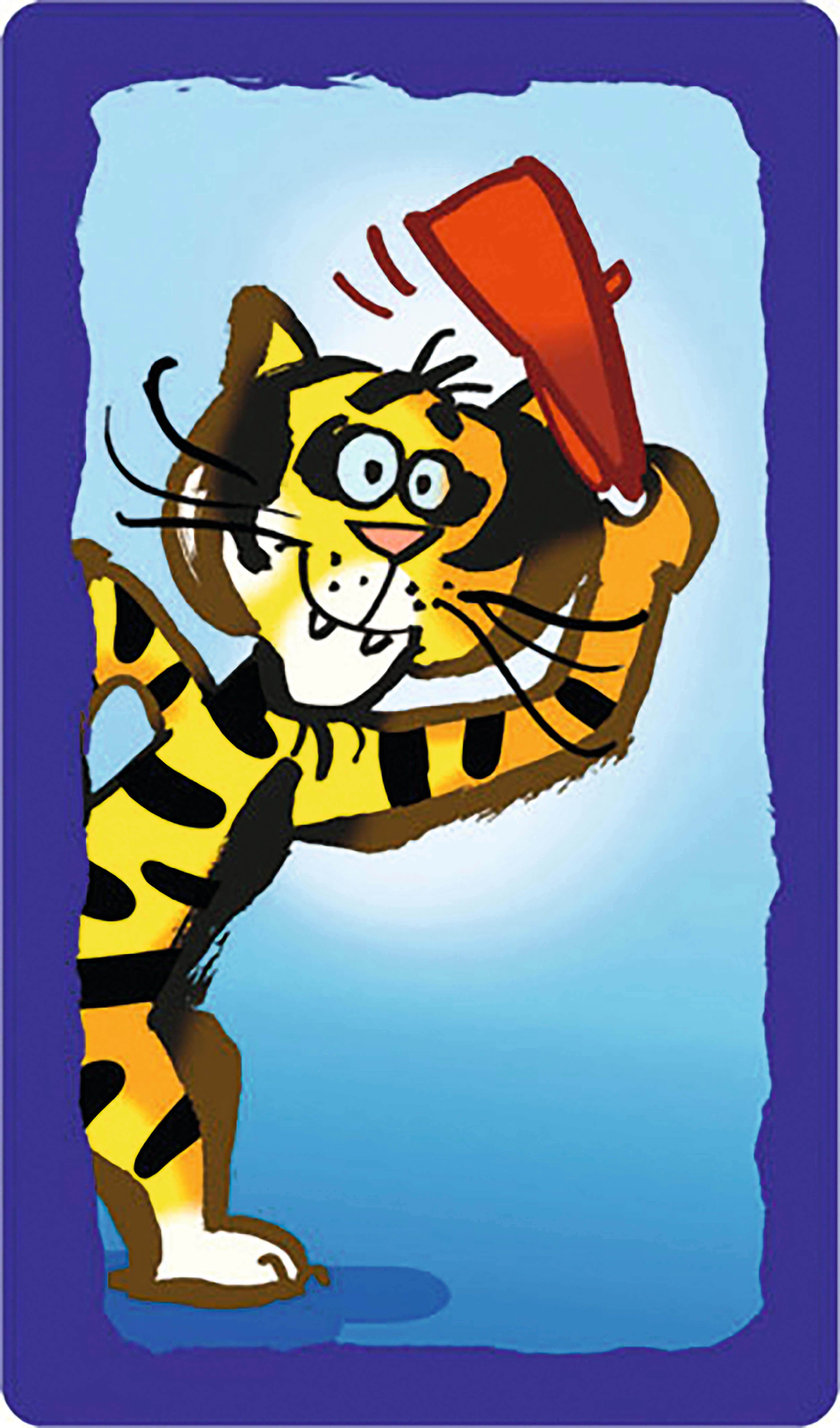Spielkarte - Tiger- Plapparagei