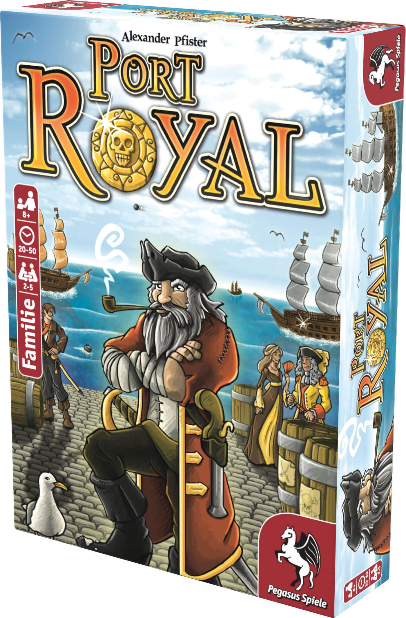 Schachtel Vorderseite, rechte Seite- Port Royal