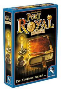 Schachtel Vorderseite, linke Seite- Port Royal: Das Abenteuer beginnt