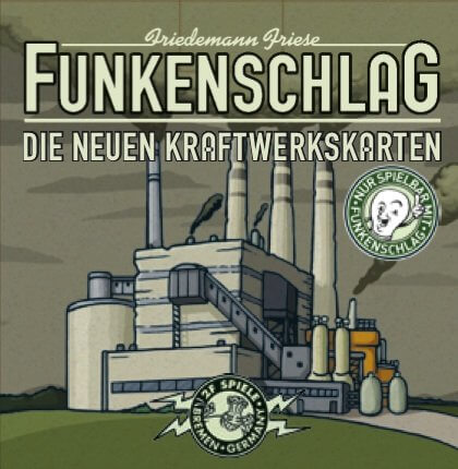 Schachtel Vorderseite- Funkenschlag: Die neuen Kraftwerkskarten