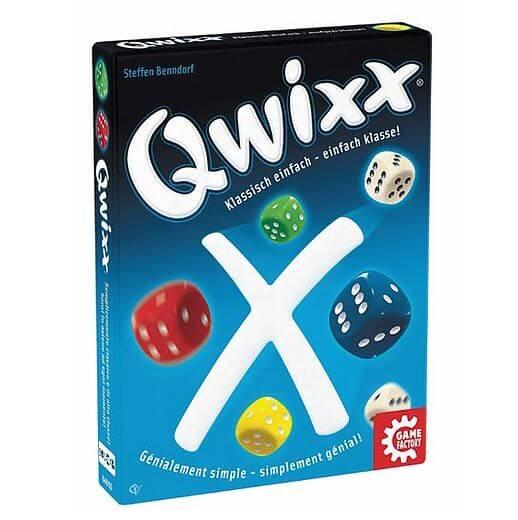 Schachtel Vorderseite links- Qwixx