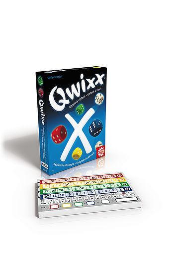 Schachtel Vorderseite und Zählblock- Qwixx