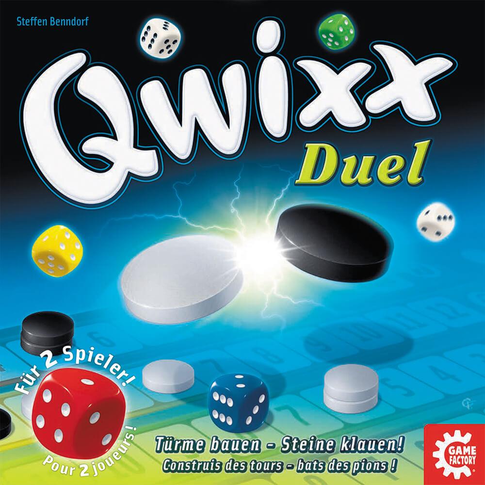 Schachtel Vorderseite- Qwixx - Duel