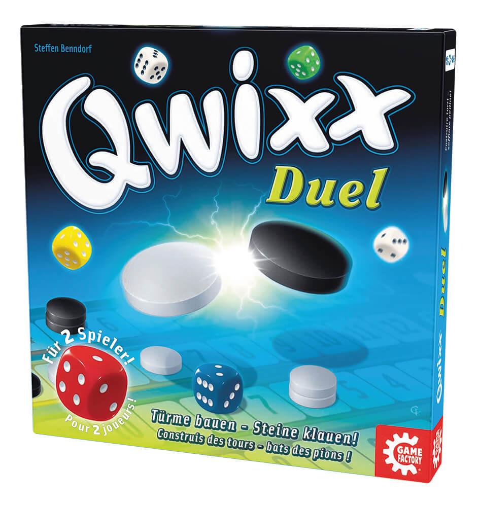 Schachtel Vorderseite rechts- Qwixx - Duel