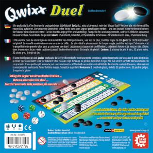 Schachtel Rückseite- Qwixx - Duel