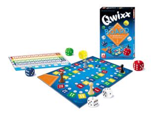 Spielmaterial - Spielschachtel mit Spielbrett, Würfeln und Block- Qwixx on Board