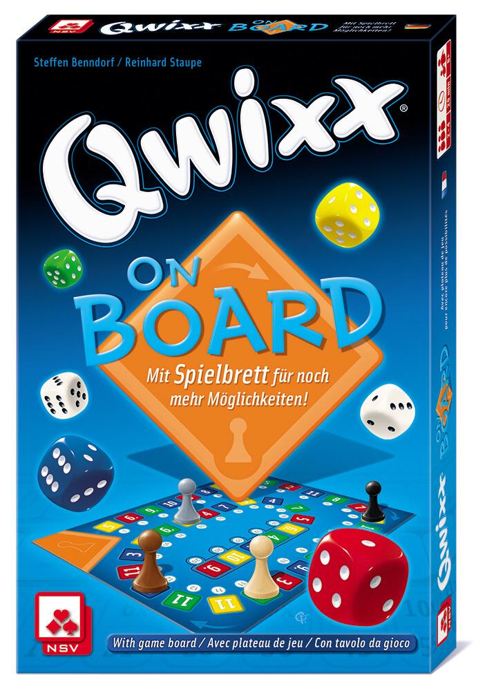Schachtel Vorderseite- Qwixx on Board