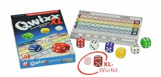 Spielmaterial mit Würfeln und Block- Qwixx - XL