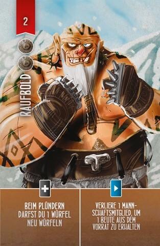 Spielkarte Raufbold- Räuber der Nordsee