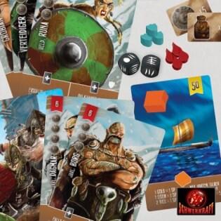 Spielmaterial - Karten und Spielsteine- Räuber der Nordsee: Felder des Ruhms