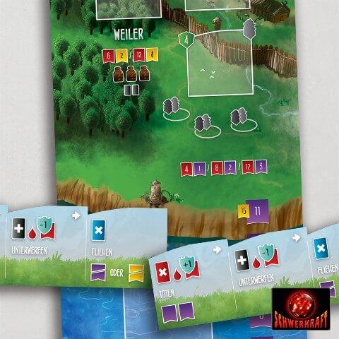 Spielmaterial - Spielplan- Räuber der Nordsee: Felder des Ruhms
