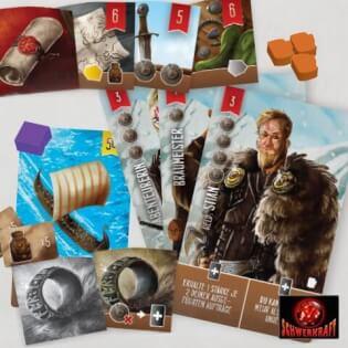 Spielmaterial - Spielkarten und Spielsteine- Räuber der Nordsee: Halle der Helden