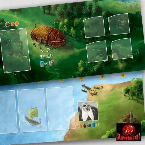 Spielmaterial - Spielplan- Räuber der Nordsee: Halle der Helden