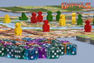 Fokus - Spielwürfel und Spielfiguren aus Holz- Rajas of the Ganges