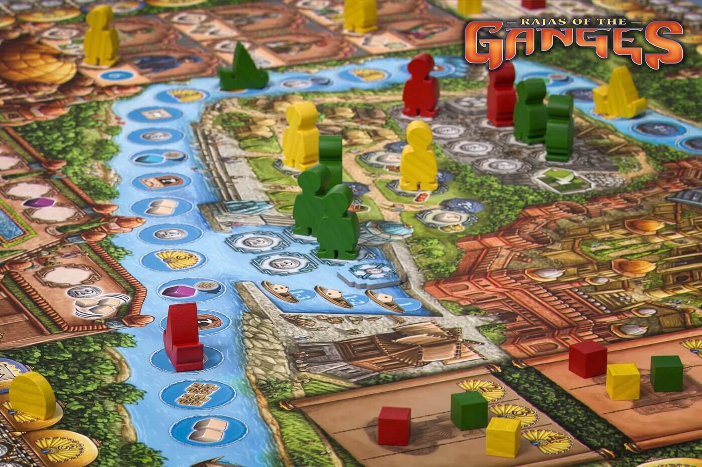 Fokus - Spielfiguren und Spielbrett- Rajas of the Ganges