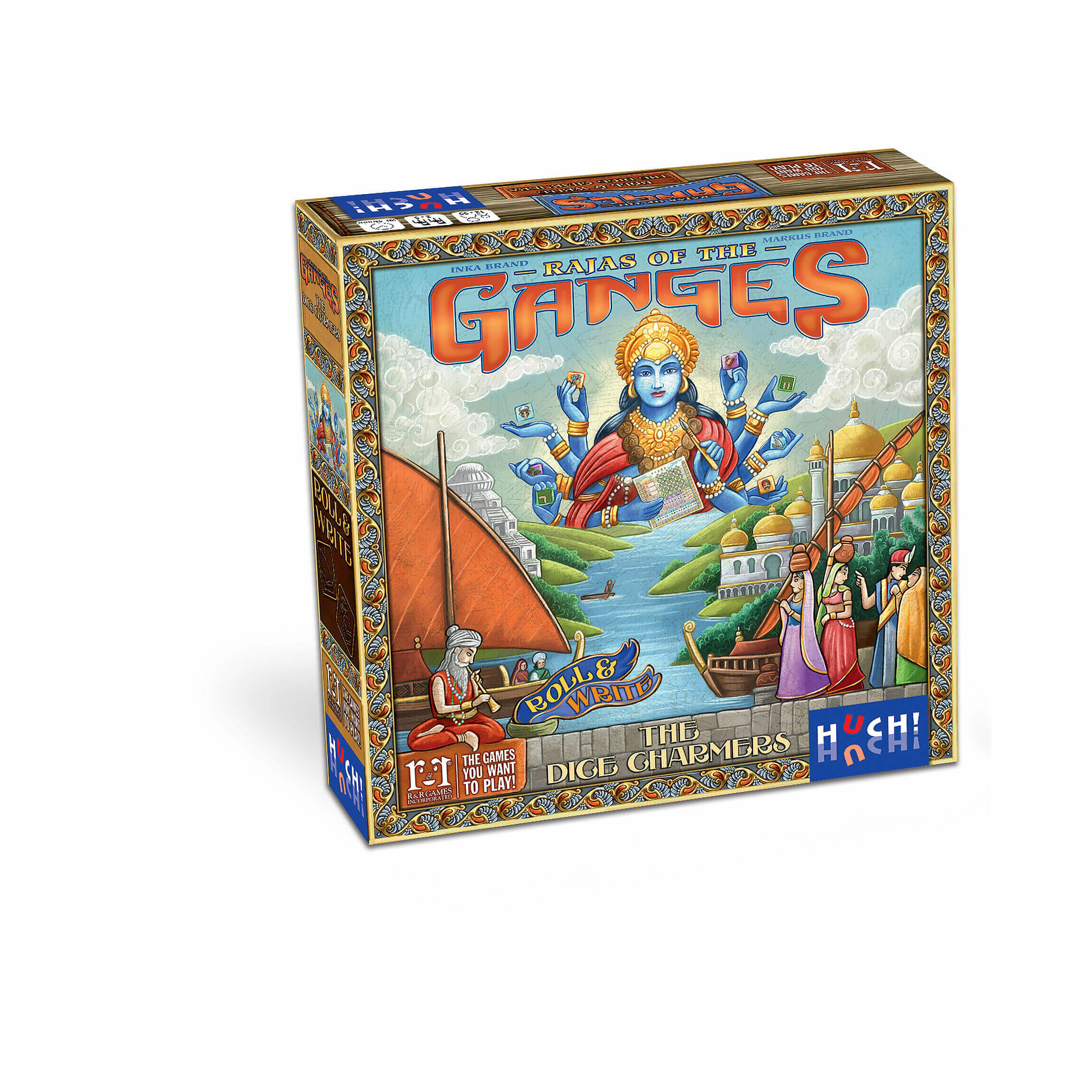 Schachtel Vorderseite- Rajas of the Ganges - The Dice Charmers