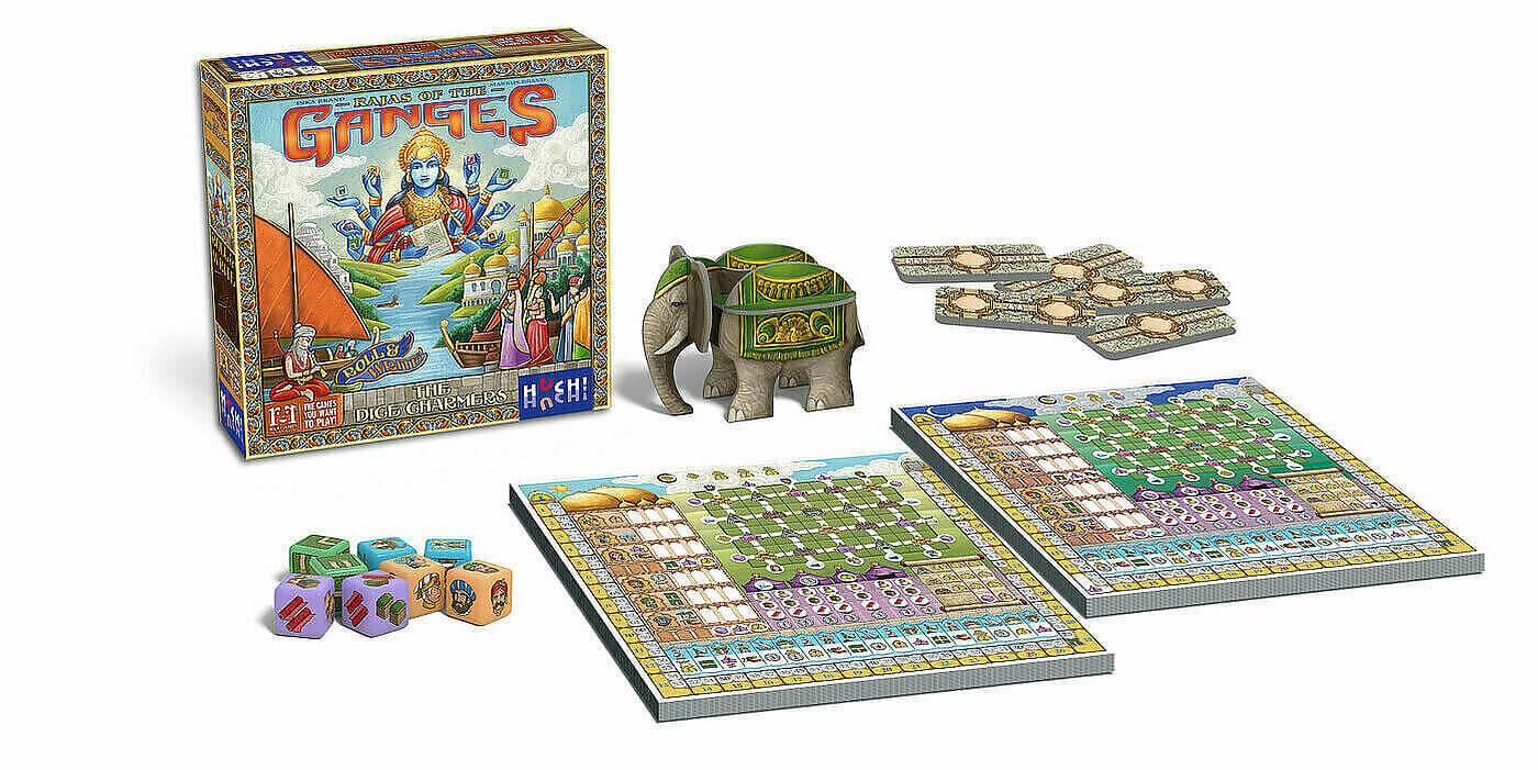 Spielmaterial- Rajas of the Ganges - The Dice Charmers