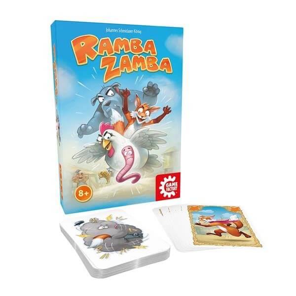 Schachtel und Spielkarten- Ramba Zamba